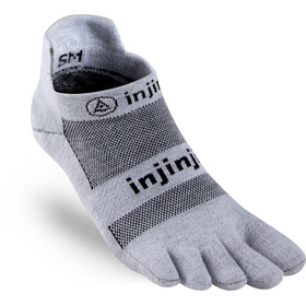 Injinji Run Xtralife Lightweight No Show Socks Men gray